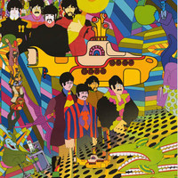 Beatles Yellow Submarine Psychedelic Music Poster 24x36