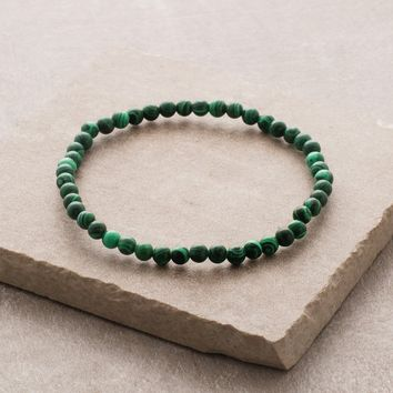 Malachite Mini Gemstone Energy Bracelet