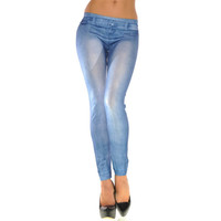 Cotton Denim Stretch Pants