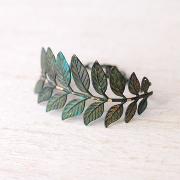 Everlasting Everything II... ((leaf and branch stamping bracelet))