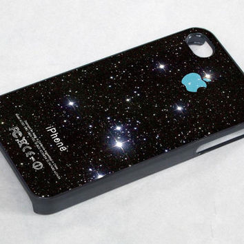 Twinkling Stars galaxy - iPhone 4 Case ,iPhone 5 case,samsung galaxy s3 and Samsung galaxy s4 Hard Plastic Case