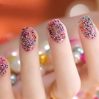 Mini Beaded Pearls Nail Set of 12 by Modicure - Modicure - Manicure Nail Wraps and Nail Foils