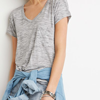 Space Dye Pocket Tee - Tops - 2000131244 - Forever 21 EU