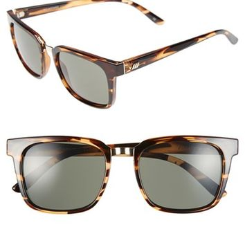 Women's Le Specs 'No Mistakes' 53mm Sunglasses - Streaky Tortoise
