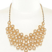 Anna & Ava Halki Bib Necklace - Gold/Pearl