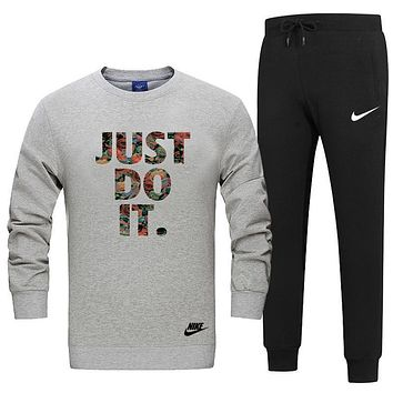 Nike Fashion Casual Top Sweater Pants Trousers Set Two-Piece-2
