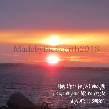 Inspirational Photography Print - Sunset Photography - Inspirational Quote - Nature Photography - 8x10 Photo