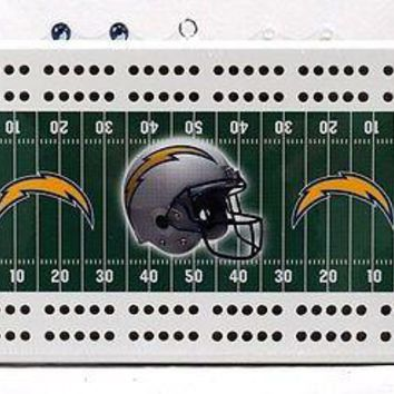 San Diego Chargers NFL 2 Track Cribbage Board