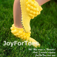 "Crochet Pattern JoyForToes ""Home Slippers BUBBLES"", size: 38 EUR, 8 US"