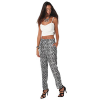 Women's Baggy Snake Print Pants