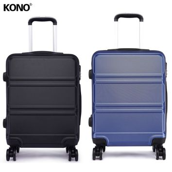 KONO 2PCS Lightweight Rolling Luggage Suitcase Travel Check in Cabin Case Trolley Bag Hard Shell 4 Wheel Spinner 20 Inch K1871L