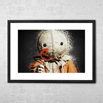 Sam - Trick r Treat, Digital Painting - Wall art Poster - Fine Art Print for Interior Decoration