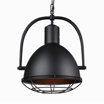 LNC Black Metal Wire Cage Pendant Lighting