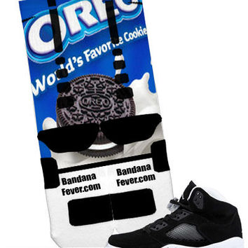"Nike Elite Socks ""Oreos"" + FREE SHIPPING - by Bandana Fever"