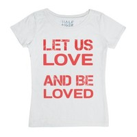 LET US LOVE AND BE LOVED! Half Tiger Womens Classic Tee /