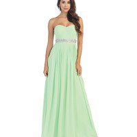 Mint Green Corset Back Gown