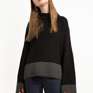 Black and Grey Two Tone Sweater