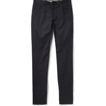 Brioni - Slim-Fit Cotton-Twill Trousers | MR PORTER