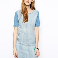 Only Denim Shift Dress - Blue