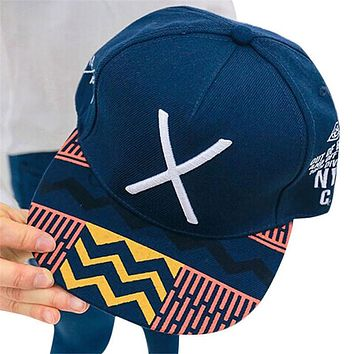 """Feitong 2017 Solid Caps Women Casquette Spring Summer Embroidery Letters """"X"""" Snapback Baseball Caps Women Flat Drake Hat"""