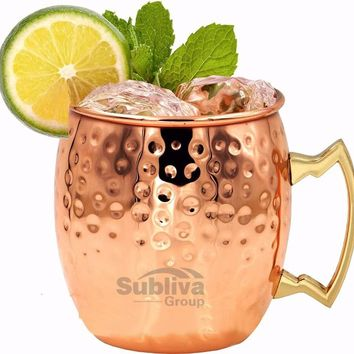Hammered Moscow Mule Copper Mugs