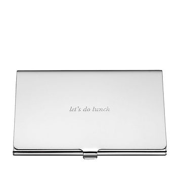 home decor accents - silver street lets do lunch business card