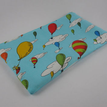 Dr Seuss pencil case, Oh the Places You'll Go, hot air balloon, zip pouch, makeup bag, gadget bag,