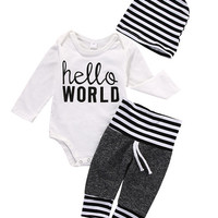 Newborn Kids Baby Boy Girl Infant Romper Jumpsuit Clothes Outfit Set Children Kids Stuff Autumn