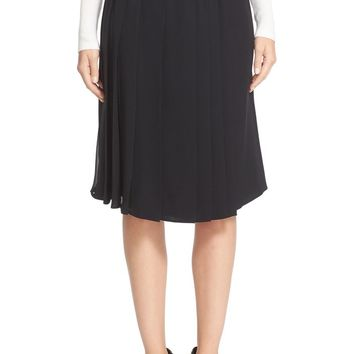 Burberry Rosemorran Chain Trim Mulberry Silk Skirt | Nordstrom