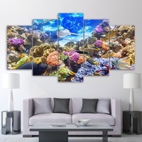 Underwater Ocean Coral Reef Color Fish Tank Wall Art Picture Framed UNframed
