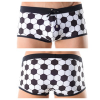 0038 Soccer Swimsuit Boxer Color Black-White