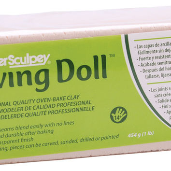 super sculpey living doll clay 1 pound-light