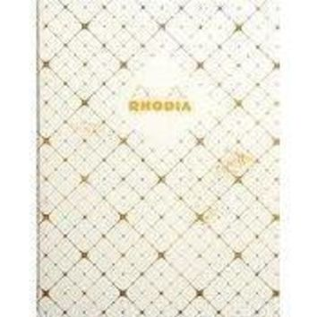"Heritage Collection Book Block Notebook Checkered"" 90g Ivory Paper, 80 Graph Sheets, Numbered, 9 3/4 x 7 1/2"" [Rhodia]"