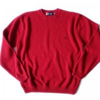 Classic Red Chaps Ralph Lauren Cotton Sweater Jumper Golf Christmas Men's Size XL