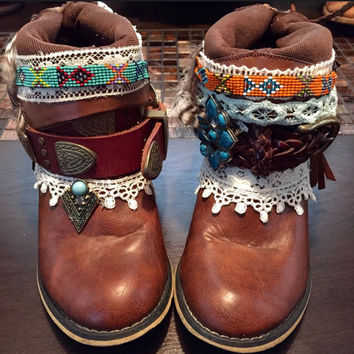 "The ""Tracy"" - Custom Upcycled Leather Cowboy Boots"