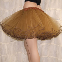 Antique Gold Piped Costume TuTu Crinoline Skirt MTCoffinz --- Adult All Sizes