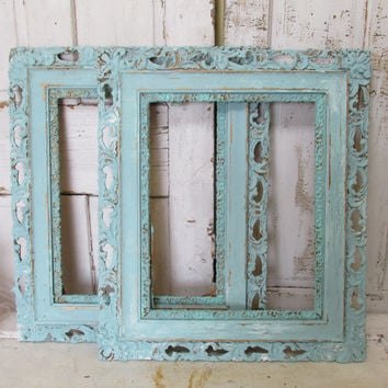 large wooden frames shabby chic vintage lace edge aged distresse