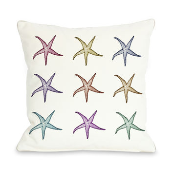 Starfish Pattern Throw Pillow by OneBellaCasa.com
