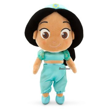 "Licensed cool Toddler Princess Jasmine Aladdin 12"" Plush Doll Toy 2015 Disney Store Exclusive"