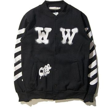 DCCKJN3 OFF WHITE  Sports Couple Jacket Winter Baseball [11501026764]