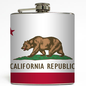 California - State Flag Flask