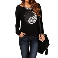 BlackWhite Ying Yang Graphic Tee