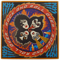 Vintage 70s KISS Rock and Roll Over Album Record Vinyl LP