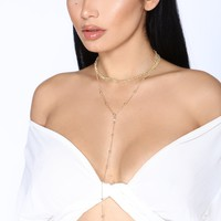 Dip it Low Layered Choker - Gold