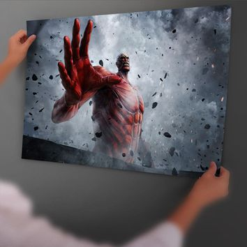 Cool Attack on Titan  2 Game Art Poster And Print Back Glue Paper Painting With Film Wall Sticker Home Decor No Fame AT_90_11