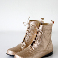 DOLLY by Le Petit Tom ® CLASSIC DOLL BOOT 8GBOOT GOLD Glitter