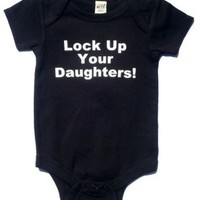 LOCK UP YOUR DAUGHTERS FUNNY BABY BOY INFANT BODYSUIT SIZE CHOICE | KoolKidzClothing - Clothing on ArtFire