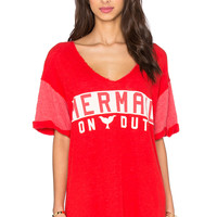 Wildfox Couture Mermaid On Duty Tee in Ariel Red