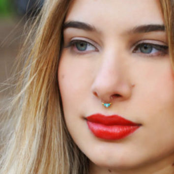 Fake septum nose ring - Fake nose ring - fake septum piercing - non piercing