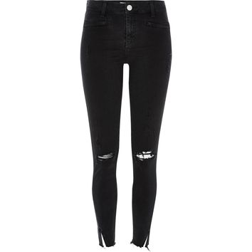 Black distressed Molly jeggings - jeggings - jeans - women